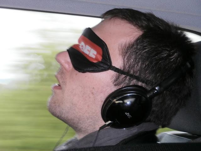 8 h de route faut bien en profiter pour rattraper ses nuits