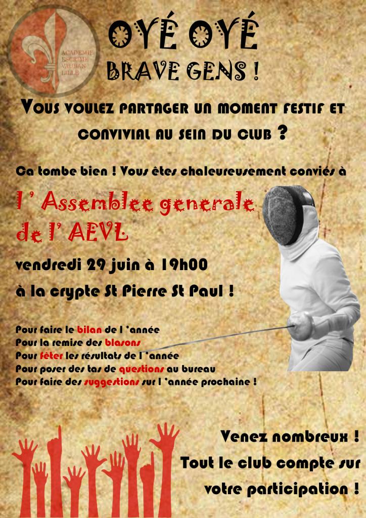 Affiche AG AEVL